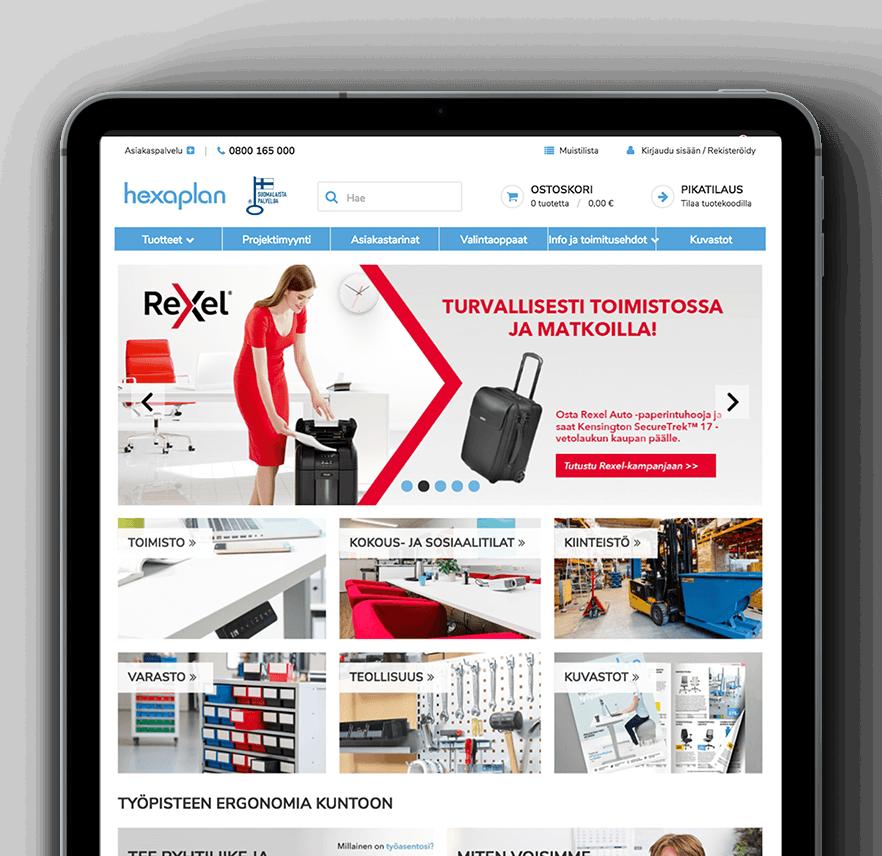Hexaplan eCommerce site