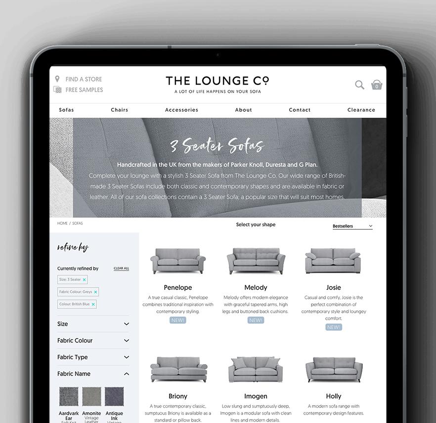 The LoungeCo eCommerce site