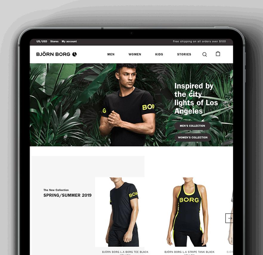 Vaimo & Bjorn Borg eCommerce site