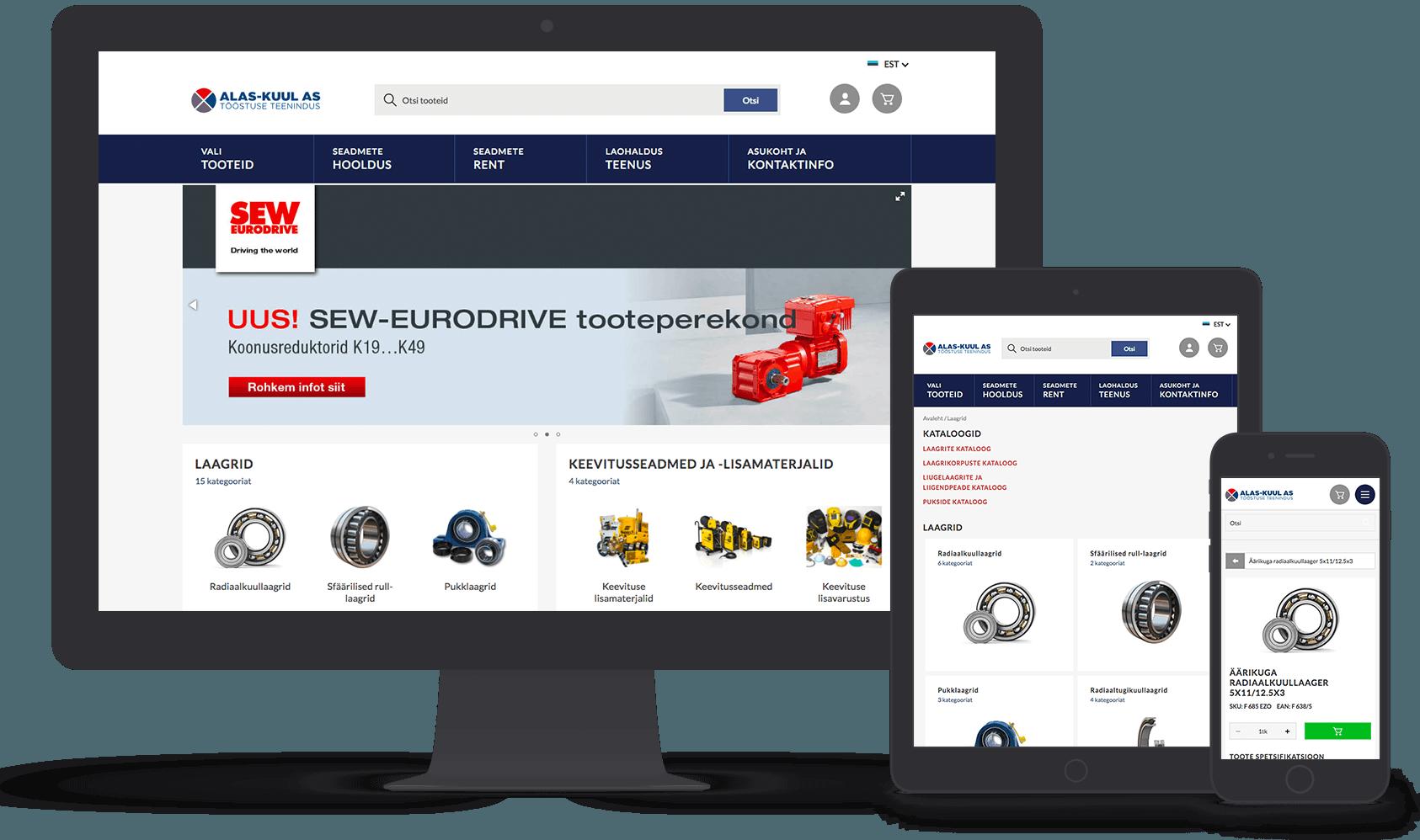 Alas-kuul eCommerce site