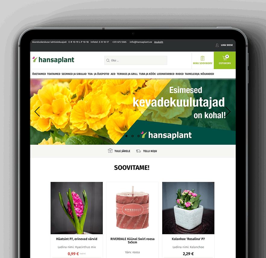 Hansaplant & Vaimo - eCommerce site