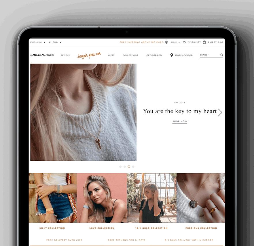 Vaimo & Imagin Jewels eCommerce site