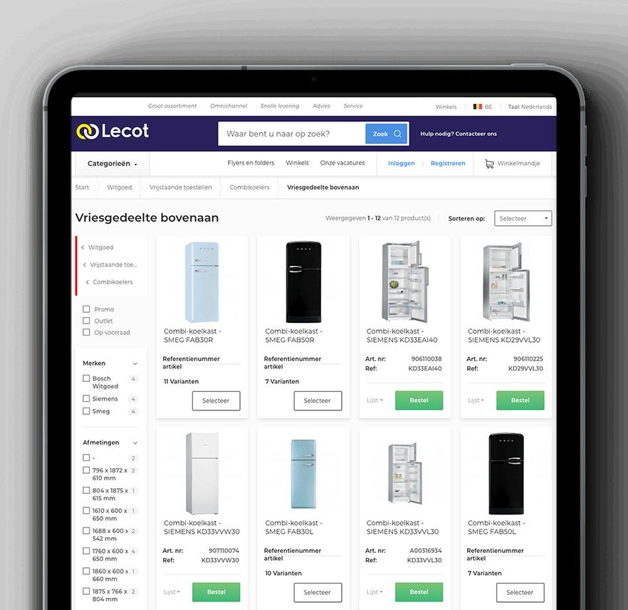 Lecot & Vaimo eCommerce site