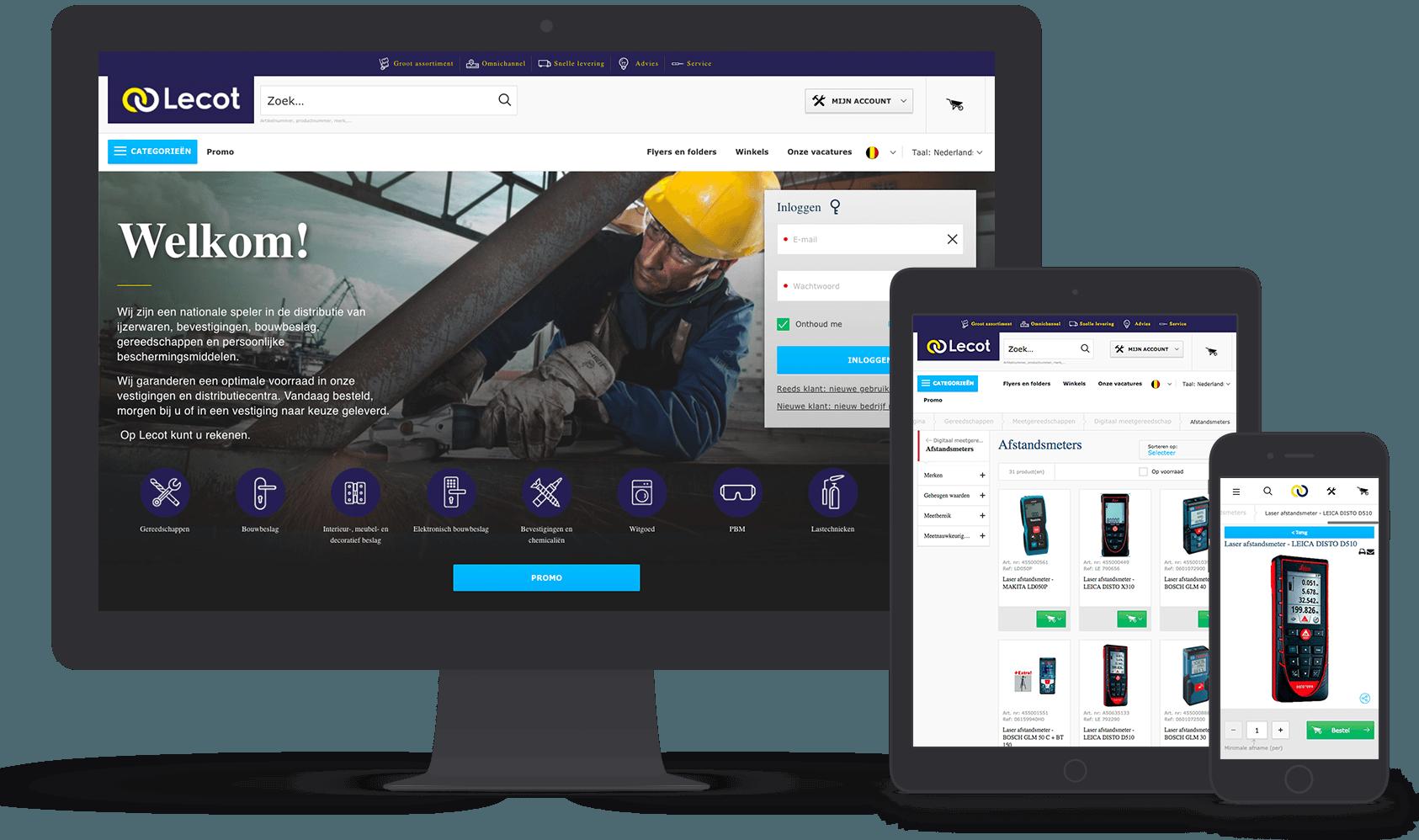 Lecot eCommerce site
