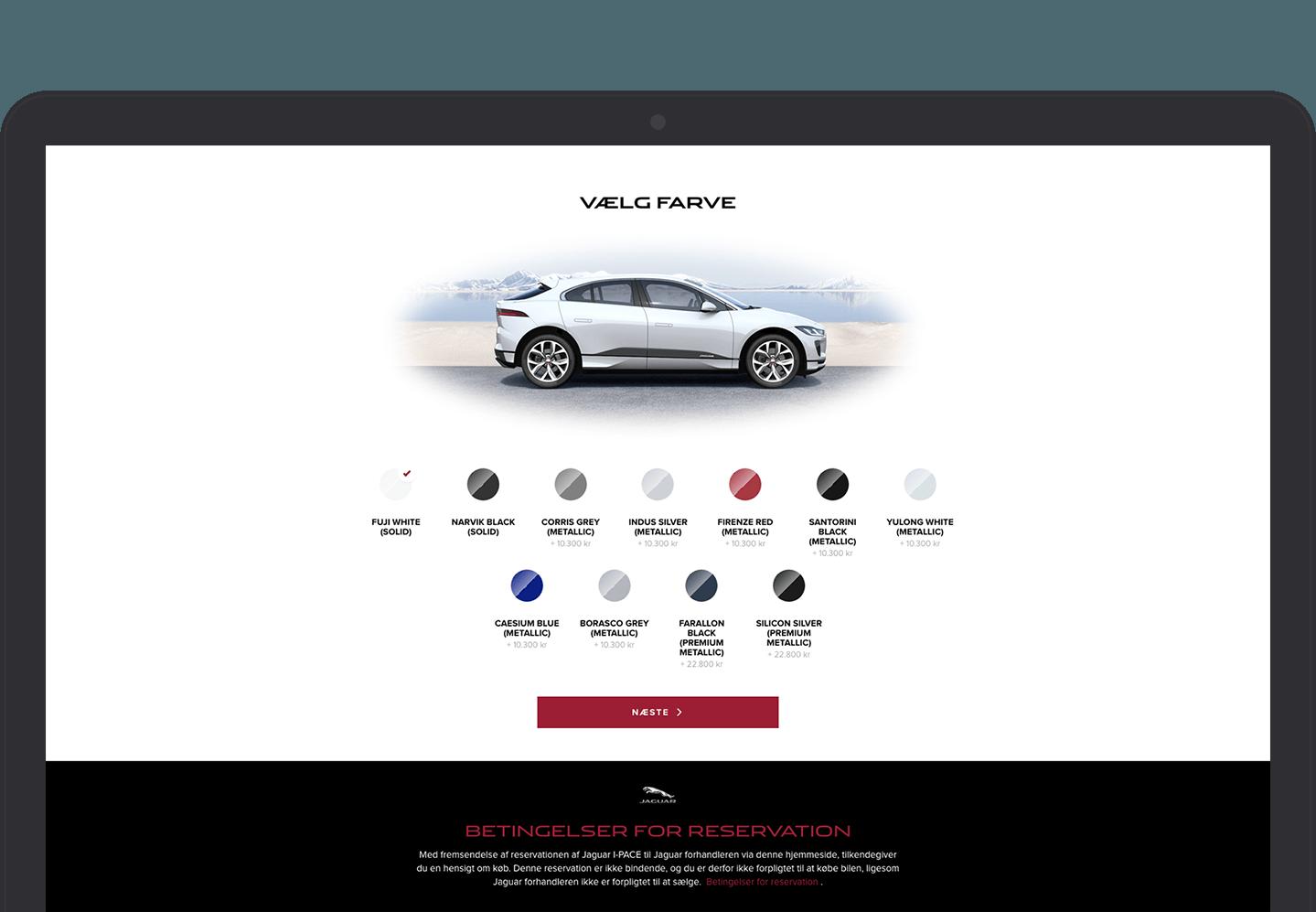 Jaguar eCommerce site