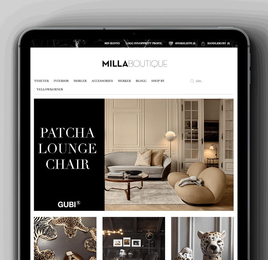 Milla Boutique & Vaimo eCommerce Magento site