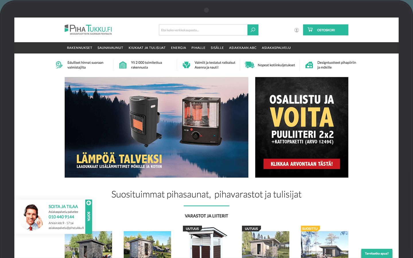 Pihatukku & Vaimo eCommerce Magento site