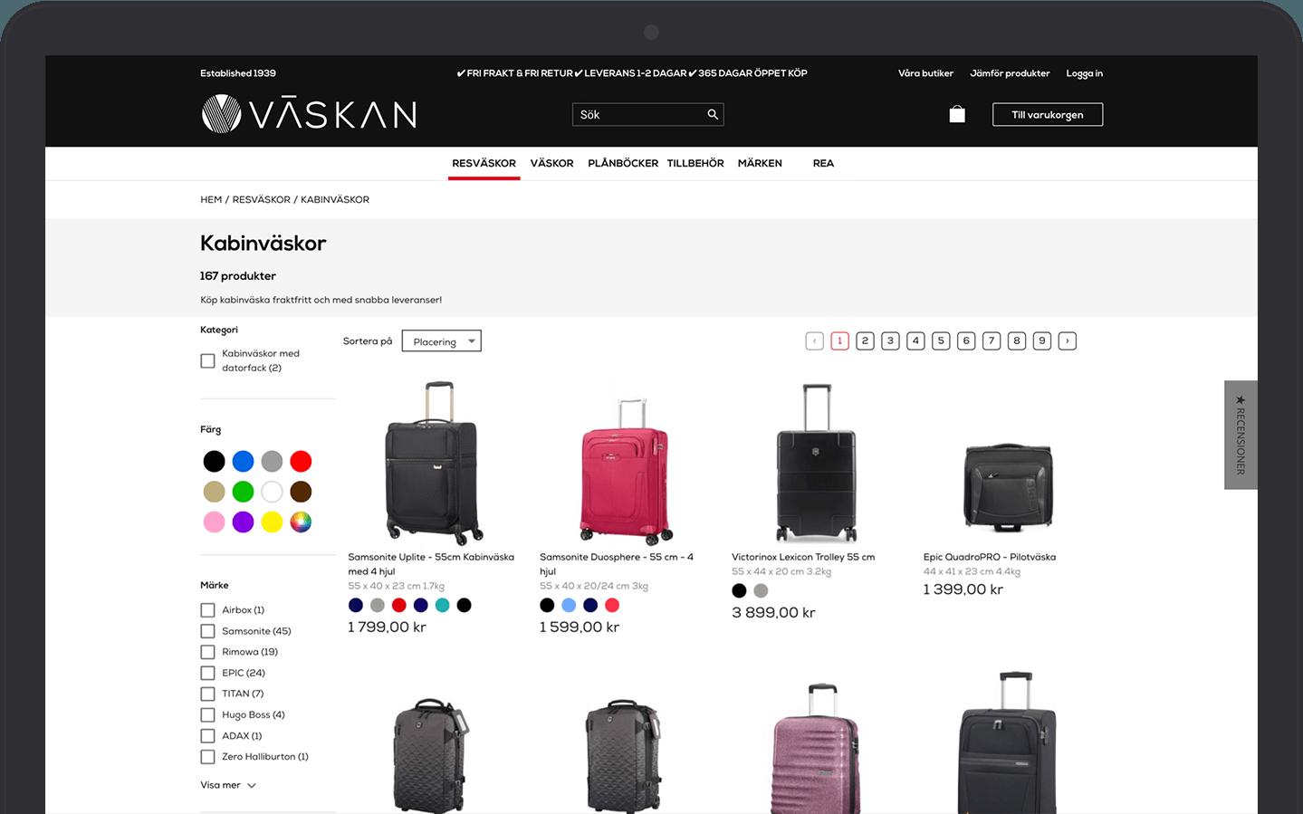 Väskan & Vaimo eCommerce Magento Development Site