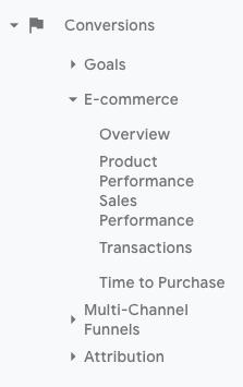 e-commerce drop down menu