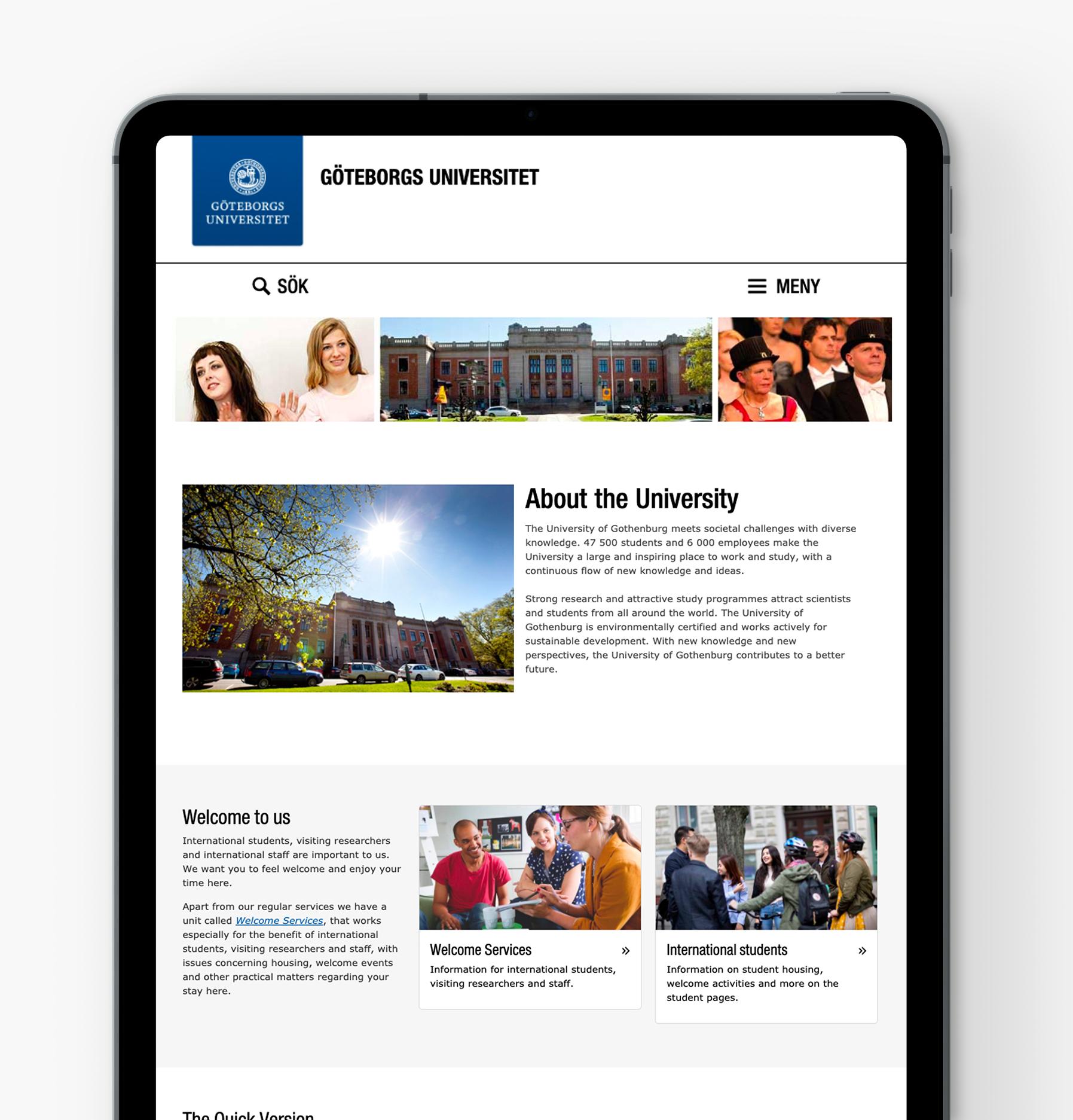 Gothenburg University iPad