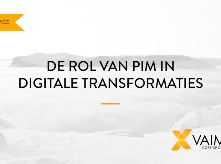 PIM digitale transformatie