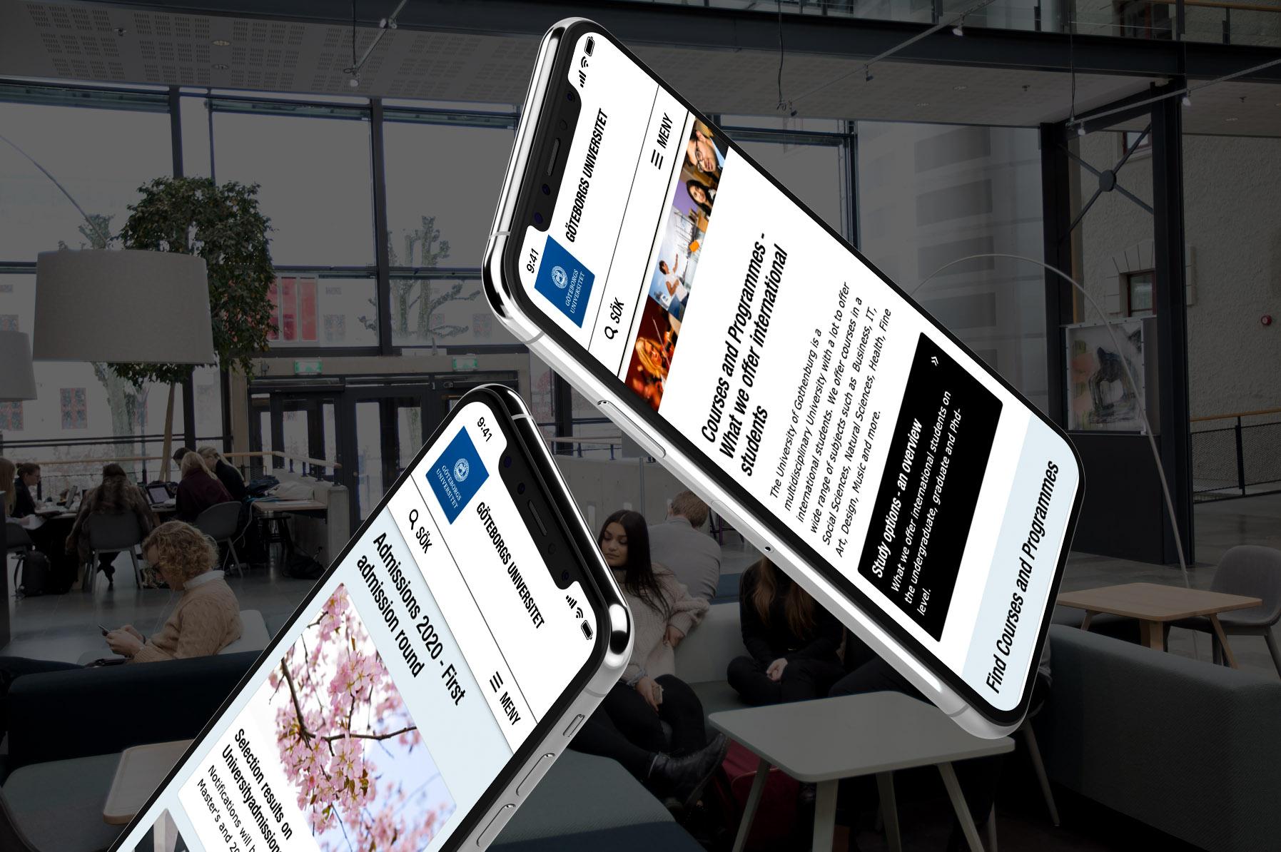 University of Gothenburg iPhones